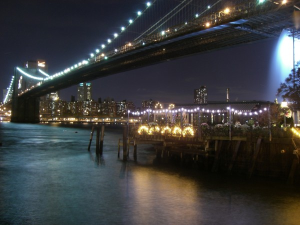 night view of NYC