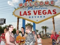 wedding under Vegas sign